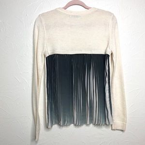 Stitches & Stripes Chiffon Pleated Sweater